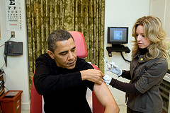 President Obama getting a Flu Vaccine, 2009