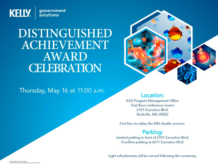 Kelly Government Solutions Distinguished Achievement Award
