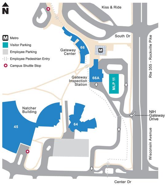 gateway center map