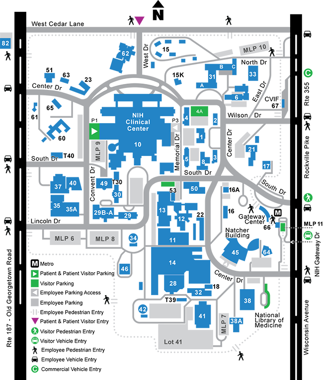 Campus Access Map with Perimeter Security