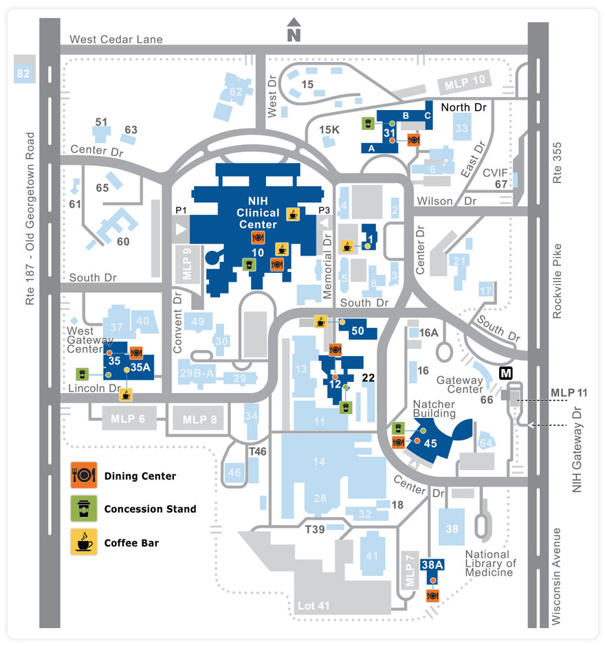 On Campus Food Location Map