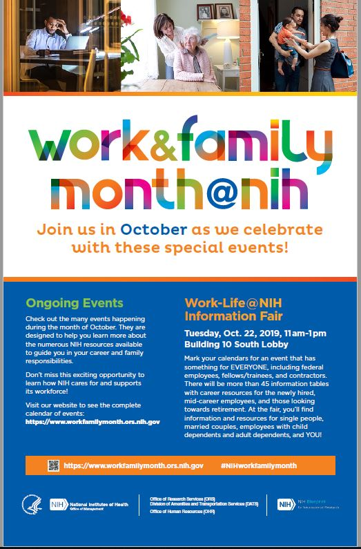 Work and Family Month at NIH Poster