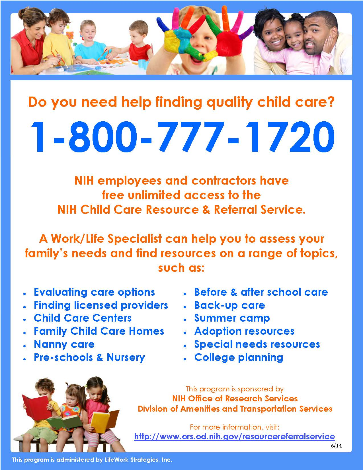 NIH Child Care Resource and Referral Services
