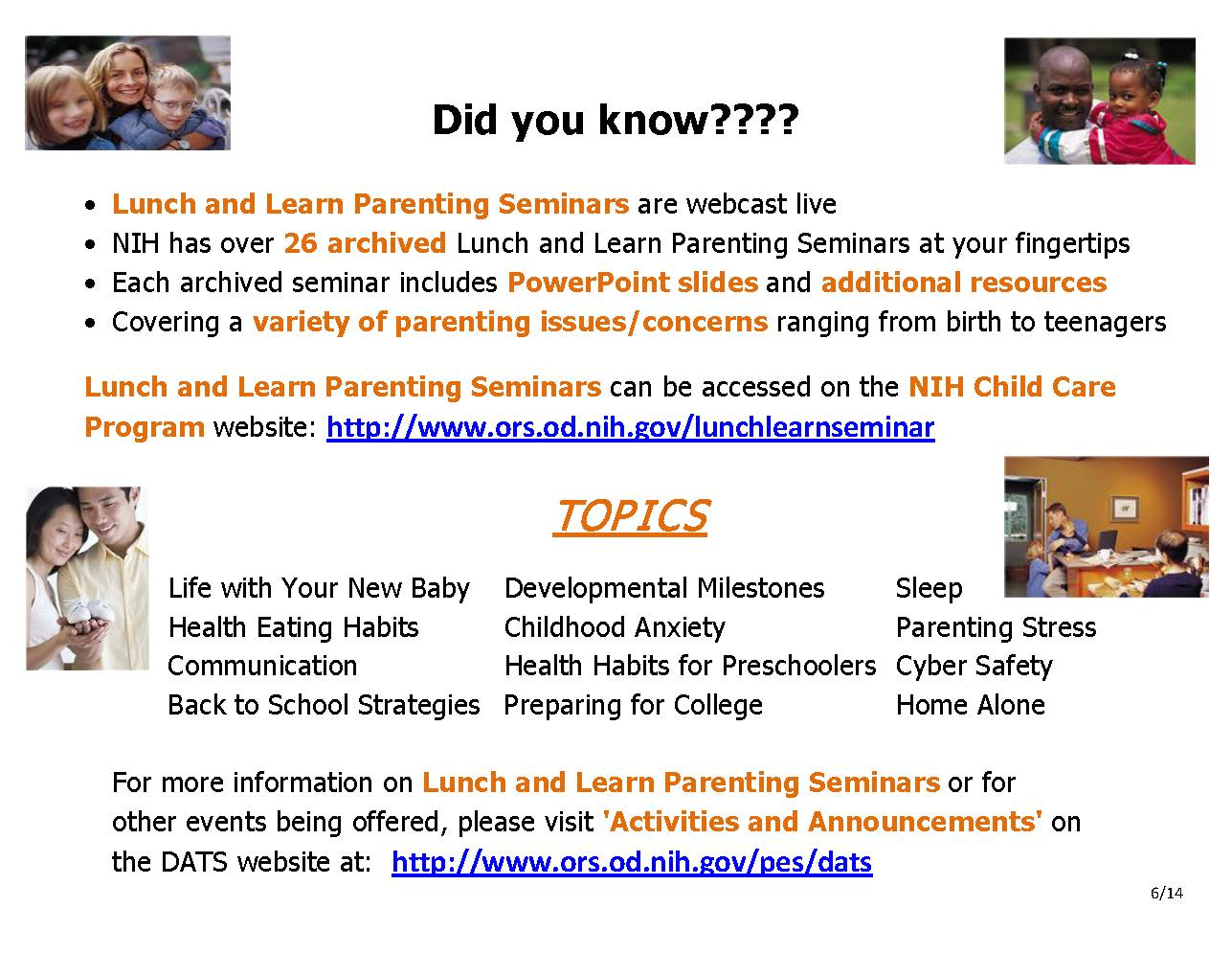 Did You Know : Lunch and Learn Flyer