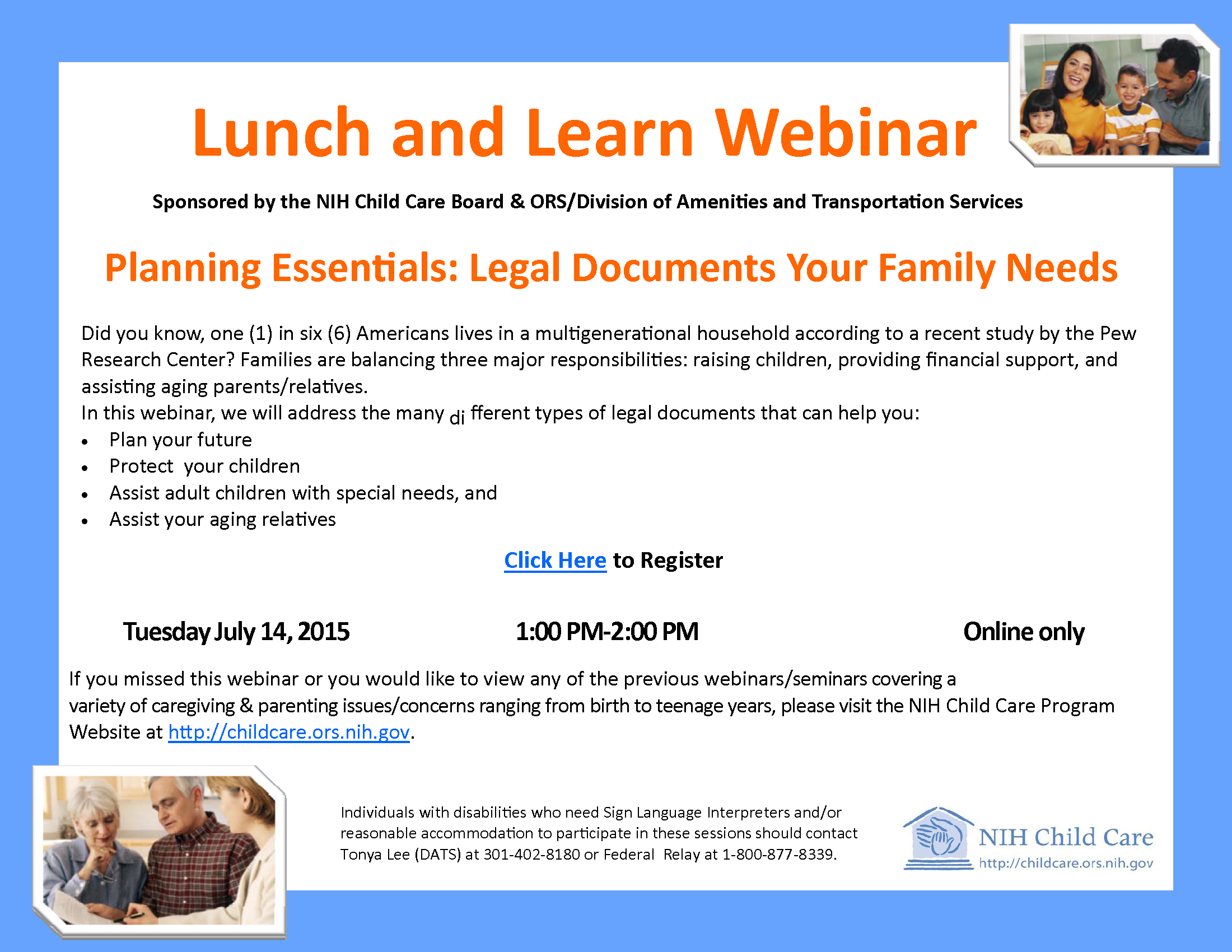 Lunch and Learn Webinar Event Flyer