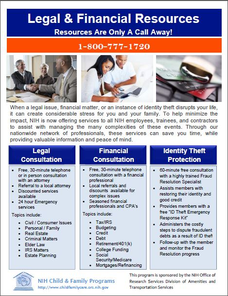 Legal and Financial Flyer