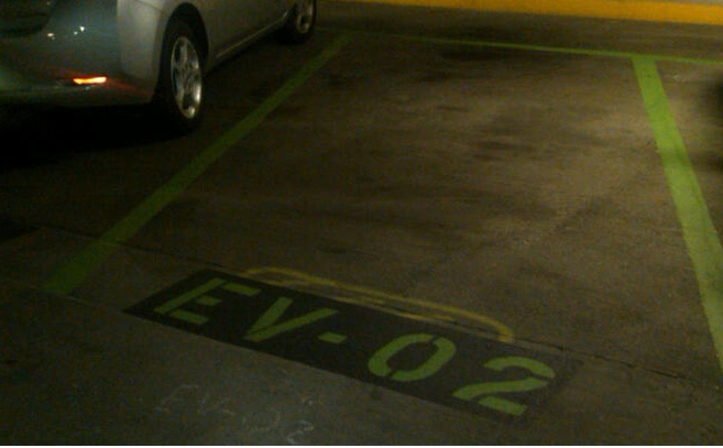 NIH Electrical Vehicle Parking Space