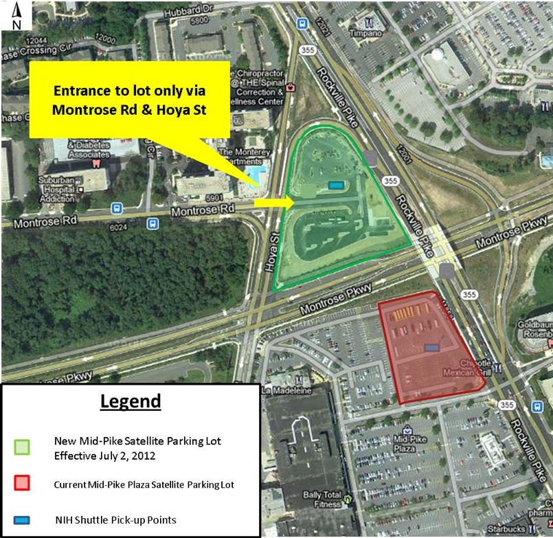 Map of New Mid-Pike Plaza Commuter Lot