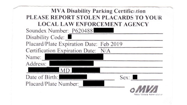 Parking Information on credit cards application, frequently asked questions application, state of illinois handicap parking application, pa disability placard application, library card application, generic employment application,