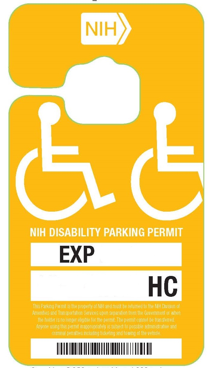 NIH Red Parking Permit