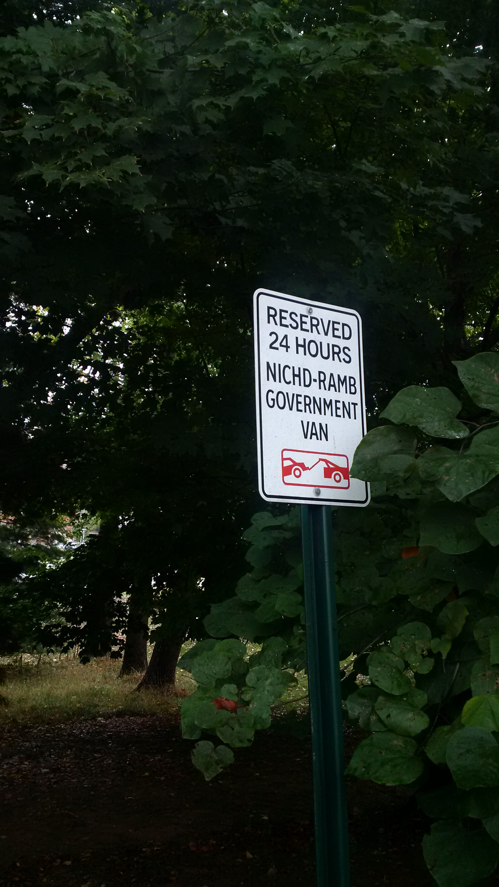 Image of Government Vehilce Parking Sign