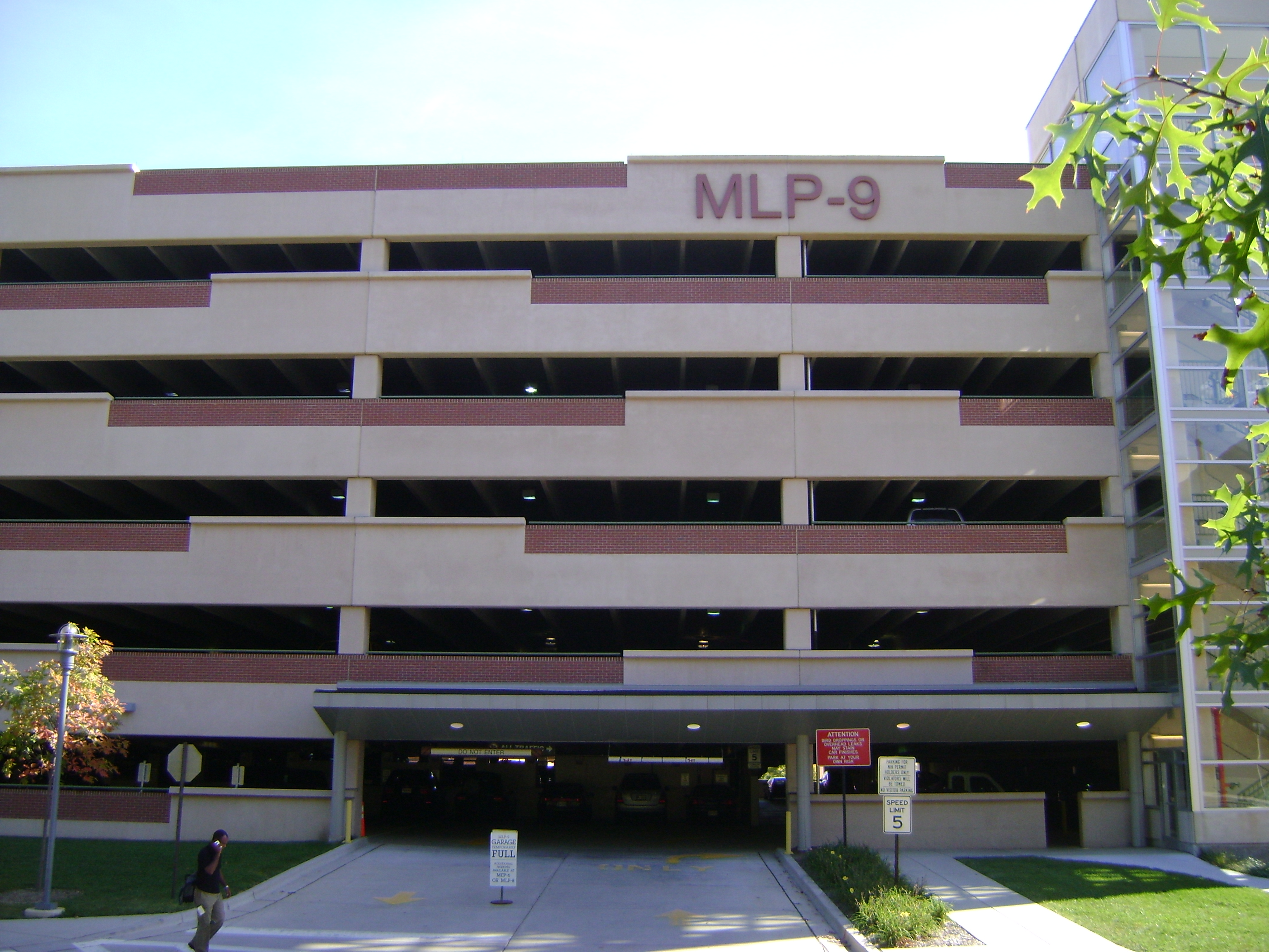 Multi-Level 9 Parking Garage