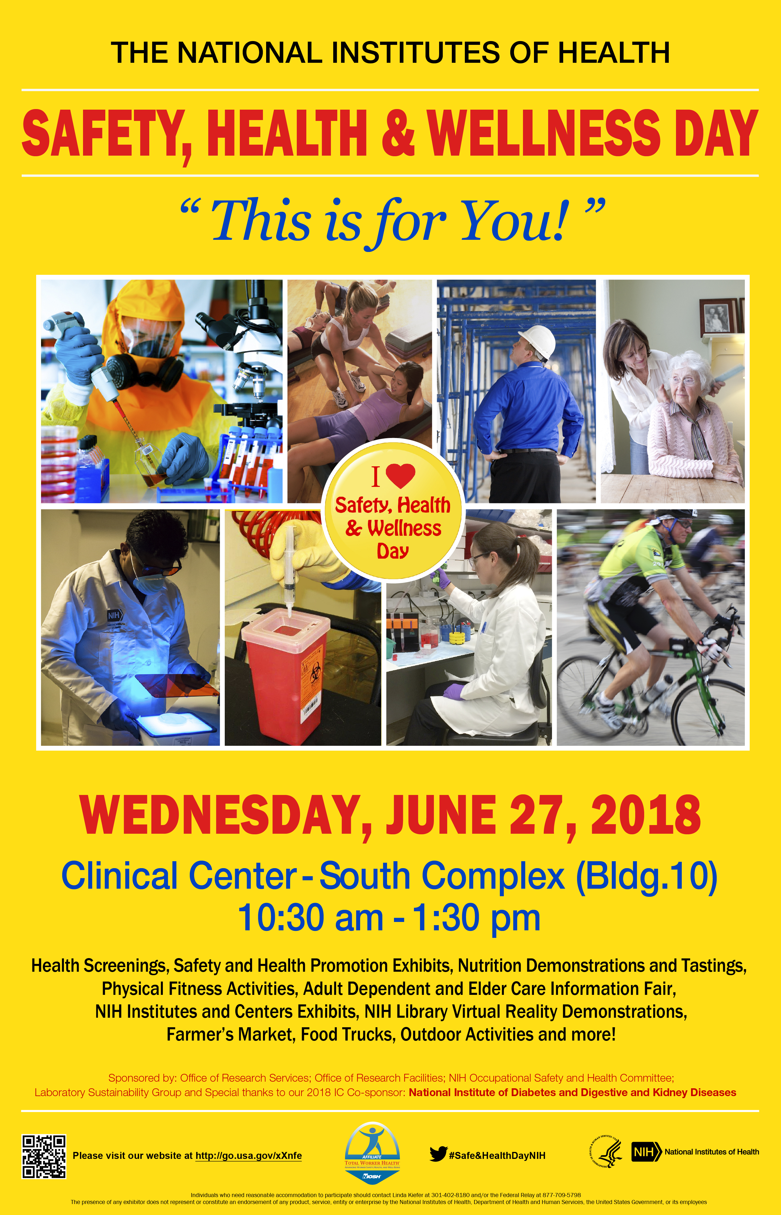 47b1ab6a516d 2018 Safety Health and Wellness Day Co-Sponsored by the National Institute  of Diabetes and Digestive and Kidney Diseases