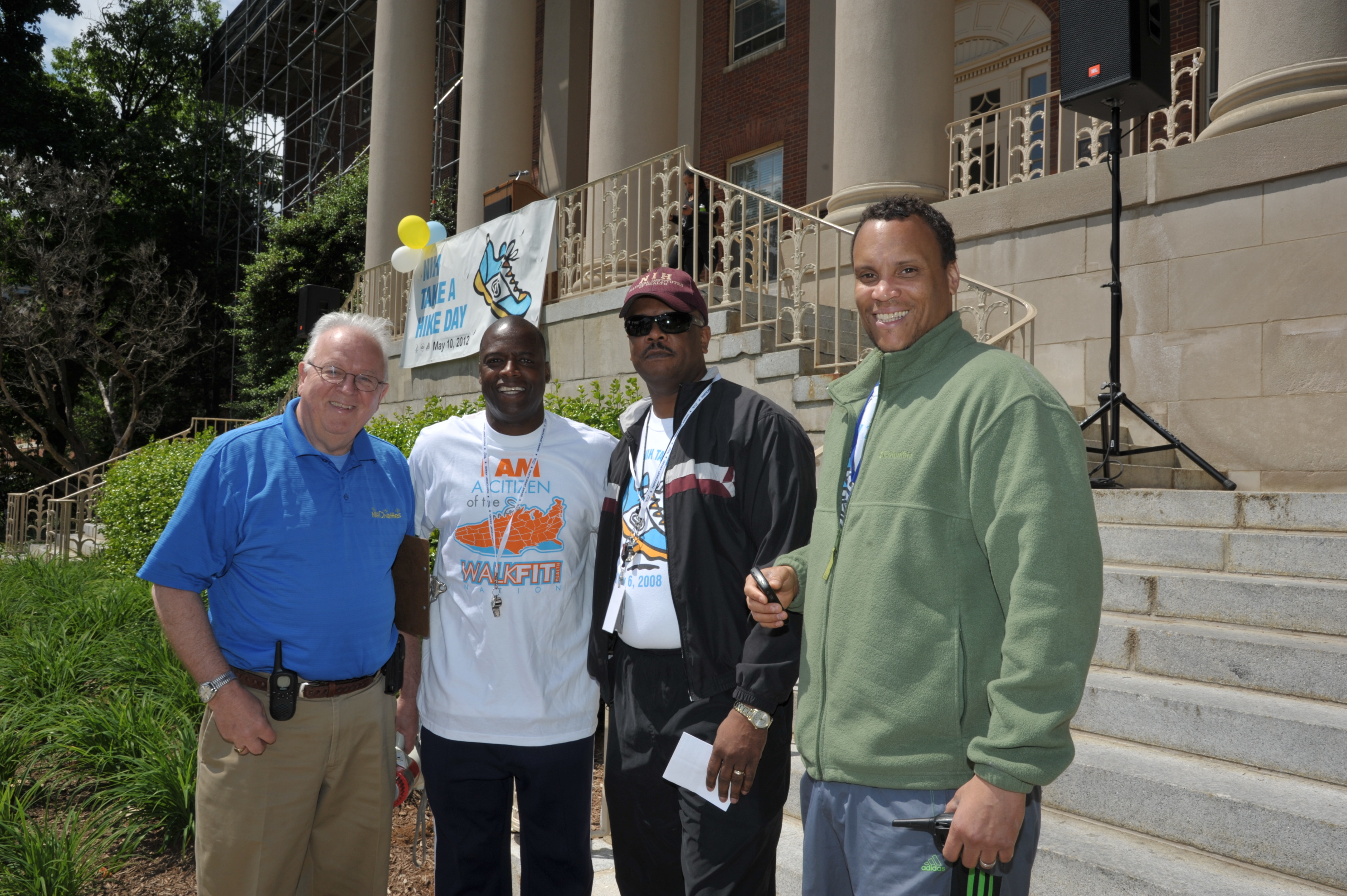 Randy Shcools, CEO NIH R&W, Darrel Green, Dr. Alfred Johnson, Director, ORS, Chris Gaines, Wellness Program Manager, DATS