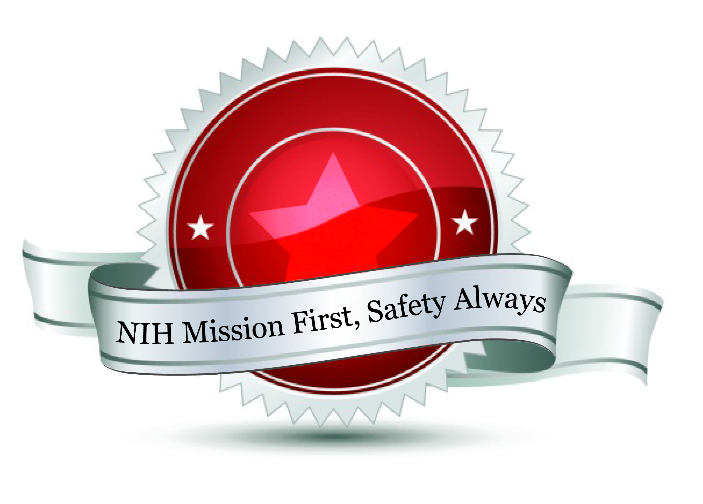 NIH Mission First, Safety Always Emblem